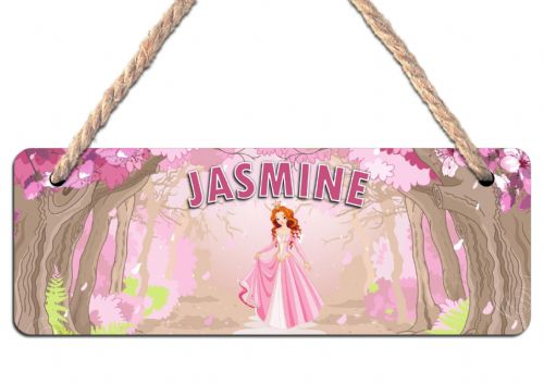 Personalised Princess Hanging Sign Plaque N14